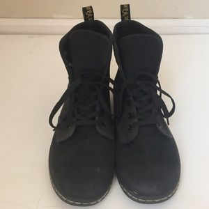 Dr. Martens Black Shoreditch Canvas Boots Size 10